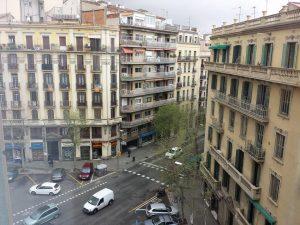 スペイン・バルセロナのホテルからの景色